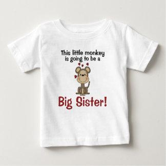 Little Monkey Hearts Big Sister Tees