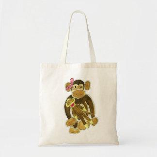 Little Monkey & her Sock Monkey Bag