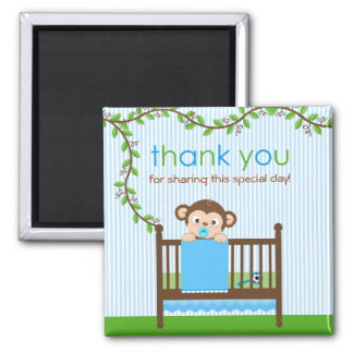 Little Monkey in a Crib Boy Thank You Magnet