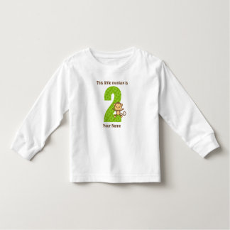 Little monkey is two Toddler Long Sleeve T-Shirt