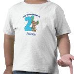 Little Monkey Kids 2nd Birthday Personalised Shirts