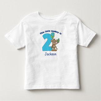 Little Monkey Kids 2nd Birthday Personalized Tshirt