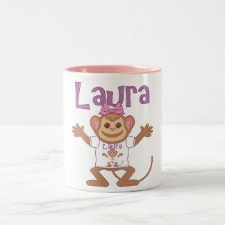 Little Monkey Laura Two-Tone Coffee Mug