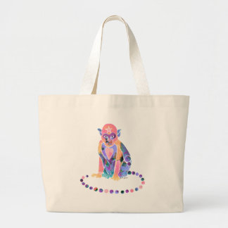Little Monkey Pinks & Purples Jumbo Tote Bag
