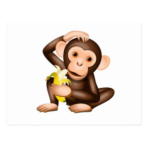 Little monkey post card