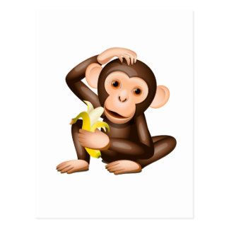 Little monkey postcard