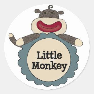 Little Monkey Tshirts and Gifts Round Sticker