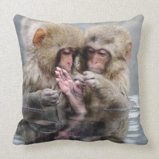 Little Monkeys | Hot Springs, Japan Cushion
