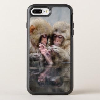 Little monkeys in hot spring, Japan. OtterBox Symmetry iPhone 7 Plus Case