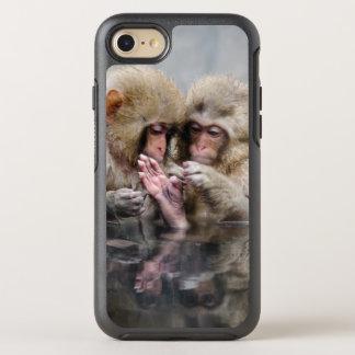 Little monkeys in hot spring, Japan. OtterBox Symmetry iPhone 8/7 Case