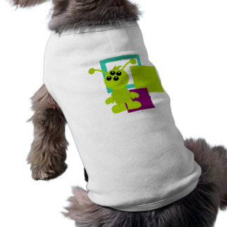 Little Monster Alien Creatures Sleeveless Dog Shirt