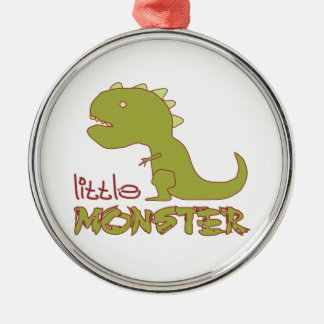 Little Monster - Customisable Silver-Colored Round Decoration