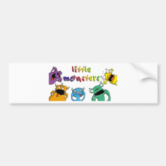 Little monster grimaces first day at school funny autosticker