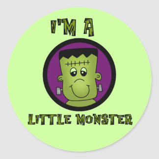 Little Monster Halloween Tshirts and gifts Classic Round Sticker
