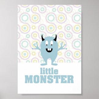 Little Monster Illustration Poster