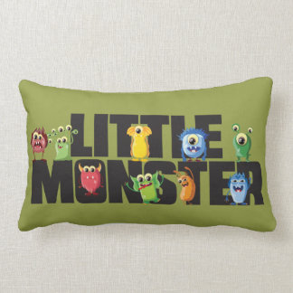 """Little Monster Polyester Throw Pillow13"""" x 21"""" Lumbar Cushion"""