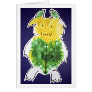 Little Monster - portrait template design Greeting Cards