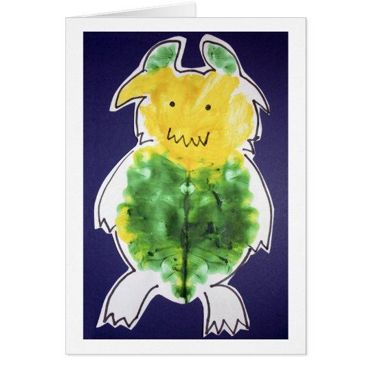 Little Monster - portrait template design Card