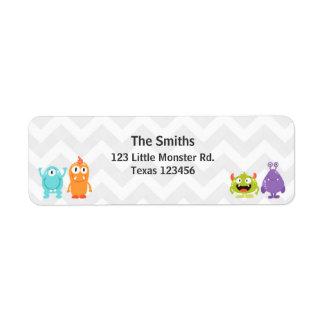 Little Monster Return Address Label