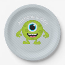 Little Monster themed Boy Party personalised Paper Plate