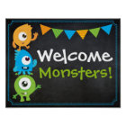 Little Monster Welcome Sign