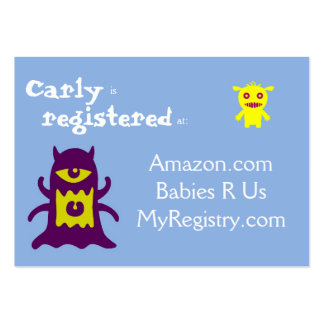 Little Monsters Baby Registry Cards Business Cards