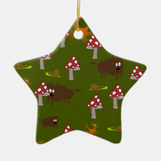 Little monsters ceramic star decoration