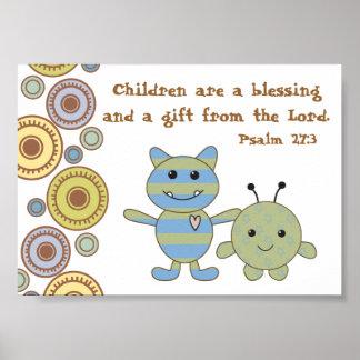 Little Monsters Christian Bible Verse Poster