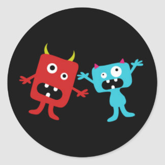 Little Monsters Classic Round Sticker