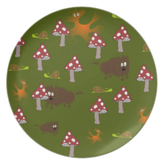 Little monsters dinner plate