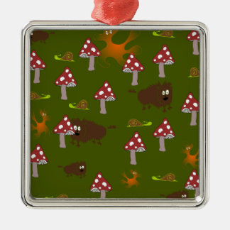 Little monsters Silver-Colored square decoration