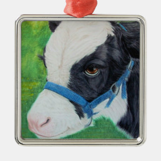 Little Moo Christmas Ornament