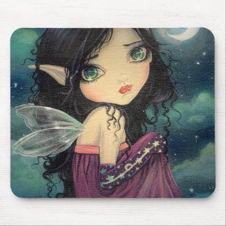 Little Moon Big-Eye Fairy Fantasy Art Mouse Mat