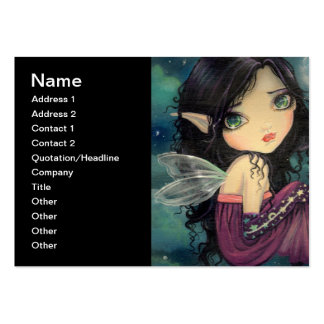 Little Moon Big-Eye Fairy Fantasy Art Pack Of Chubby Business Cards