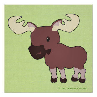 Little Moose Print