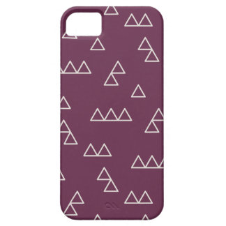 Little Mountains Phone Case - Plum iPhone 5 Covers