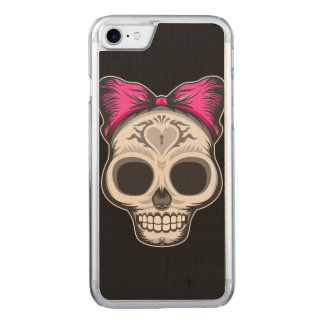 Little Ms. Sugar Skull Carved iPhone 8/7 Case