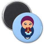 Little muslim girl purple hijab hijabi cartoon