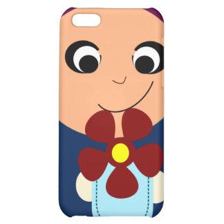 Little muslim girl purple hijab hijabi cartoon iPhone 5C covers