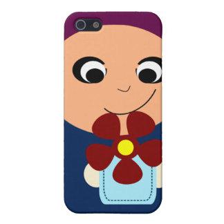 Little muslim girl purple hijab hijabi cartoon case for iPhone 5/5S