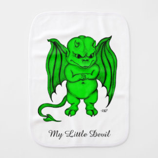 Little nasty Devil Burp Cloth