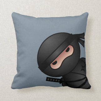Little Ninja Warrior on Grey Cushion