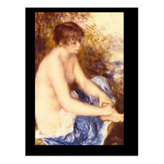 Little Nude in Blue_Impressionists Postcard
