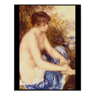 Little Nude in Blue_Impressionists Poster