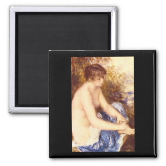 Little Nude in Blue_Impressionists Square Magnet