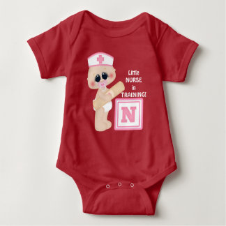 Little Nurse in Training baby girl bodysuit