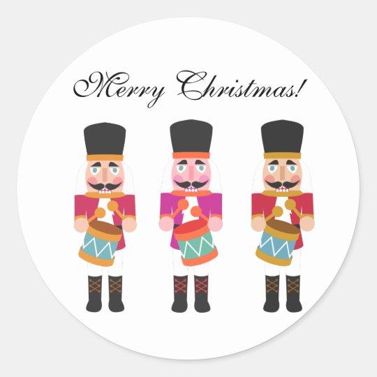 Little Nutcracker Drummer Boy Christmas Stickers