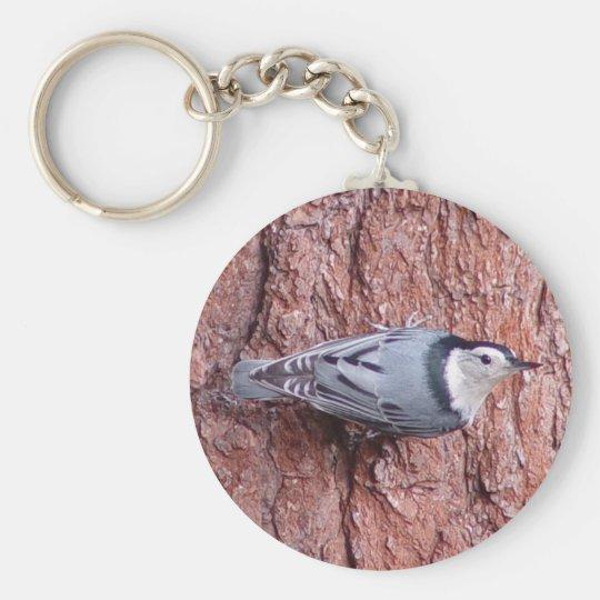 Little Nuthatch Bird Keychain