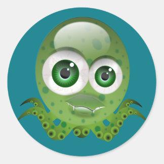 Little Octopus Round Sticker