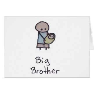 Little One big brother greeting card